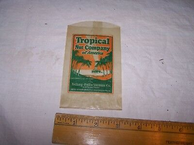 Vintage TROPICAL NUT COMPANY OF AMERICA Bag CLEVELAND Telling Belle Vernon Co