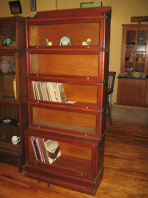 WE SHIP! Antique Early Wernicke Mahogany 5 Stack Barrister Bookcase Book Shelf