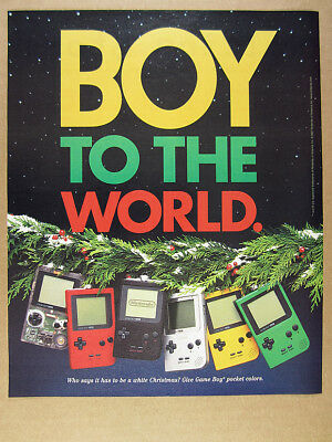 1997 Nintendo Game Boy Pocket Colors clear red yellow green vintage print Ad