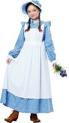 American Western Frontier Pioneer Apron Dress Historical Costume Child Girls