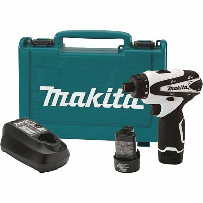 "MAKITA FD01W NEW 12V Max Lithium‑Ion 12 Volt Cordless 1/4"" Hex Driver Drill Kit"