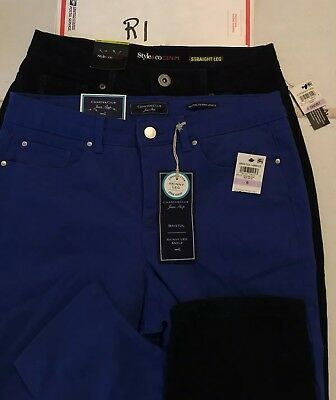 R1 Pants Lot Size 6 Short Blue And Black Skinny Straight Leg Style Co
