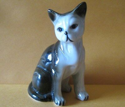 Vintage Bone China P0Rcelain Cat Figurine