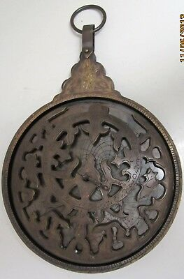 Astrolabe Large 10in Brass Antiqued Maritime Nautical