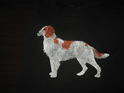 New Red And White Irish Setter Embroidered Sweatshirt Add Name For Free