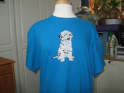 New Dalmatian Puppy Embriodered T-Shirt Add Name For Free