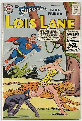 DC Comic Book SUPERMAN'S GIRL FRIEND LOIS LANE #11, Very Good, 1959