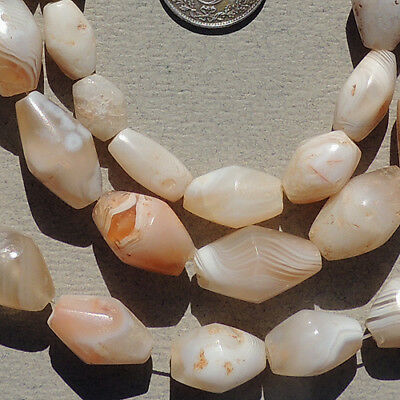 a 27 inch 69 cm strand of ancient agate stone beads mali #3986