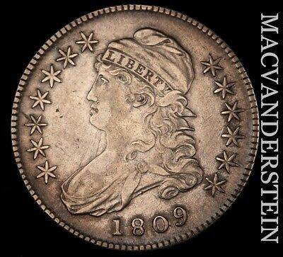 1809 Capped Bust Half Dollar - Normal - Extra Fine!!  Better Date!!  #h4619
