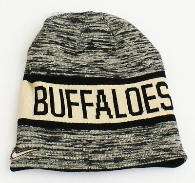new arrival f39f5 32332 Nike Reversible Colorado Buffaloes Black   Gold Knit Beanie Men s One Size