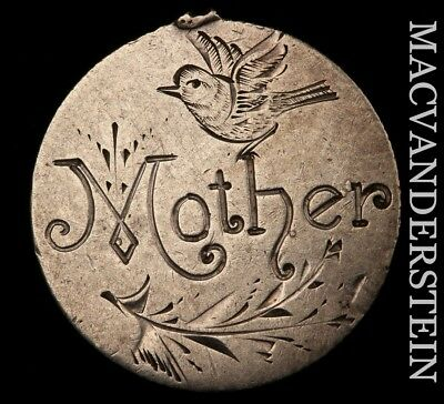 """LOVE TOKEN: 1876 SEATED LIBERTY DIME - """"Mother"""" ; BIRD DETAIL - SCARCE!!  #Y2097"""