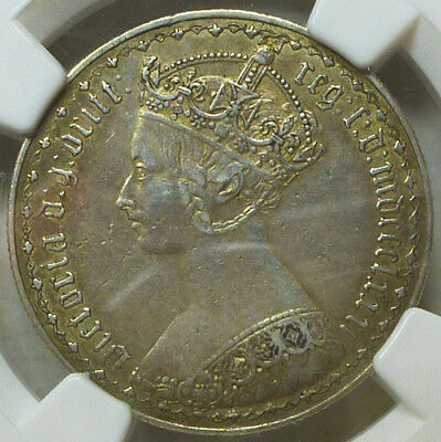 Great Britain Gothic Florin 1881 XF Details (Surface Hairlines) NGC