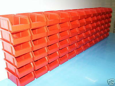 Storage Boxes, stabelboxen Colour Red 72 Pieces Made in Germany Giant Remainders