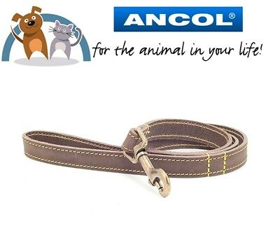 Ancol Timberwolf  Sable Leather Dog Lead 1m x 19mm