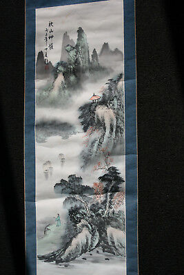 Original Chinese Ink Watercolour Painting on Rice Paper Silk Scroll - Signed #1