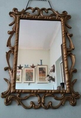 French Louis Vintage / Antique Chateaux Style Ornate Rococo Gold Wall Mirror.