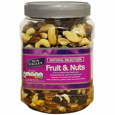 Sun Valley Natural Selection Mixed Fruit & Nuts - Large 1.1kg Tub - UK Snacks