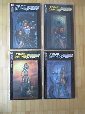 Tomb Raider & Witchblade Holo 3D Cover # 1 + 2 Cover Variant    - deutsch