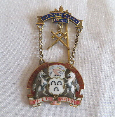 1946 Silver Masonic Craft Founder Breast Jewel - Farriers Lodge 6305 (9A)