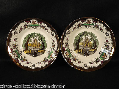 Leeds by Masons Bowl Sauce Copper Luster China Dinnerware Scalloped Rim England