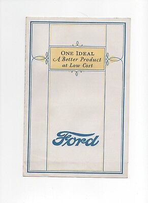 Early 1900s Ford Car brochure