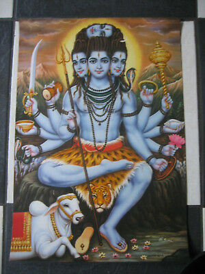 Lovely Poster Of Hindu God Lord Shiva