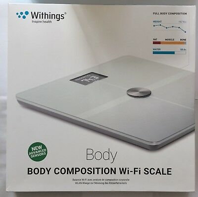 Withings Body Körperanalysegerät Bilancia Wi-Fi Bluetooth Fitness per Android