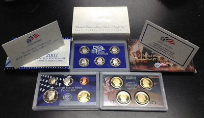 2007 United States Mint Annual 14 Coin Proof Set Original Box and COA