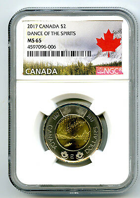 2017 Canada $2 Toonie Ngc Ms65 Dance Of Spirits 150Th Anniv Two Dollar Coin