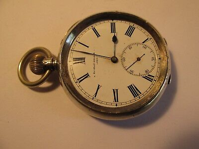 solid silver pocket watch      stamped. 935
