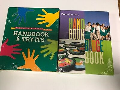 Lot of 2 New Girl Scouts of America Brownie Junior Book Combo Sealed Handbook