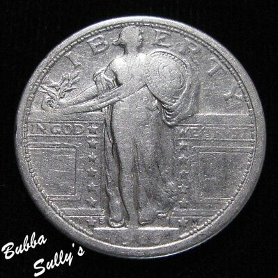 1917 S Type I Standing Liberty Quarter <> VERY FINE