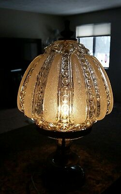 Vintage Ornate Frosted Glass Electric Ceiling/patio Light Fixture