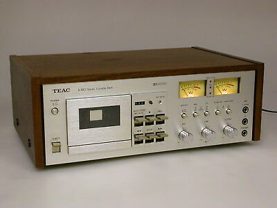 TEAC A-480 Vintage Stereo Kassettendeck, Dolby-System, Cassett Deck mit Woodcase