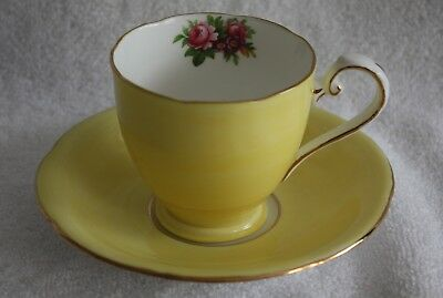 Royal Grafton Fine Bone China Demitasse Cup And Saucer Canary Yellow