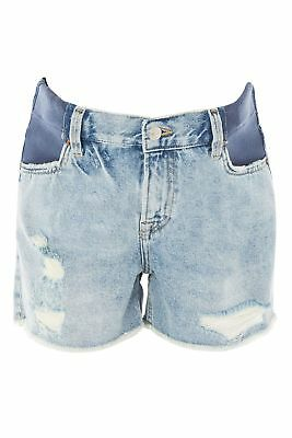 Topshop Maternity Denim Cut-off Shorts Distressed Ripped 100% cotton Size 10