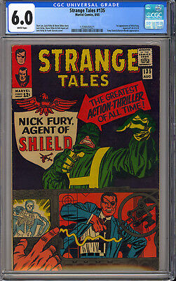 Strange Tales #135 Nice 1st App. Nick Fury Agent of Shield Marvel 1965 CGC 6.0