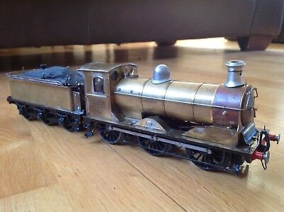 Live Steam Tinplate Locomotive Train And Tender O Gauge 13 Inches Long