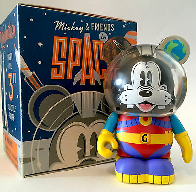 "Disney Vinylmation 3"" Mickey & Friends In Space Goofy Collectible Toy Figure New"