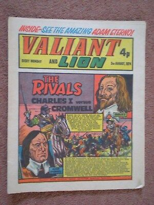 VALIANT AND LION COMIC - 3rd AUGUST 1974 - THE RIVALS CHARLES 1 & CROMWELL