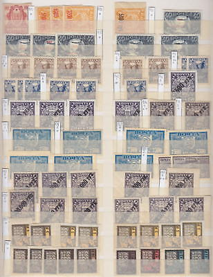 Russia - Page From Dealers Stock Old Stamps 1922 - *mh*/**mnh**
