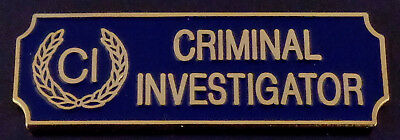 CRIMINAL INVESTIGATOR CI Gold/Blue Award/Commendation uniform bar police/sheriff