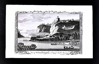 1782 John Sherwin Print St. Salvador a City of South America Brazil Bahia Sao