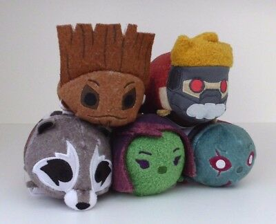 Disney Store - Guardians Of The Galaxy - Mini Tsum Tsum Toys - Set Of 5 - Tagged
