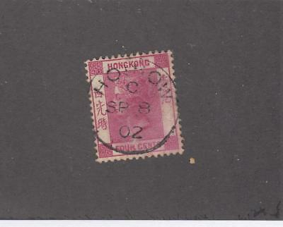 HONG KONG # 39 QUEEN VICTORIA 4cts SON HOI HOW TREATY PORT CANCEL
