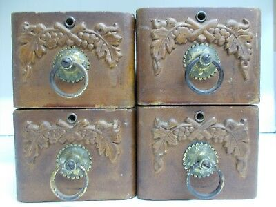 Kw-614 4 Antique Vintage Treadle Sewing Machine  Drawers With Carved Design