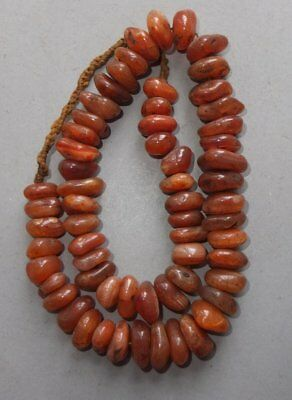 Necklace Strand Carnelian Beads Nepal