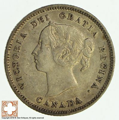 1886 Canada 5 Cents Large 6 *8569