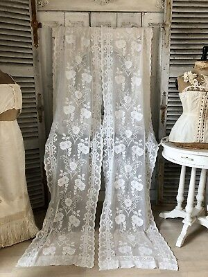 Antique french CURTAINS Art Nouveau VORHANG ANTIK Jugendstil french Shabby