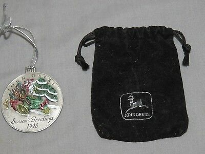 John Deere 1998 Pewter Ornament Model G Tractor New in Package Christmas